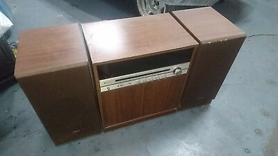Sanyo DC4504 console hi-fi system 1970's vintage turntable cassette stereo retro