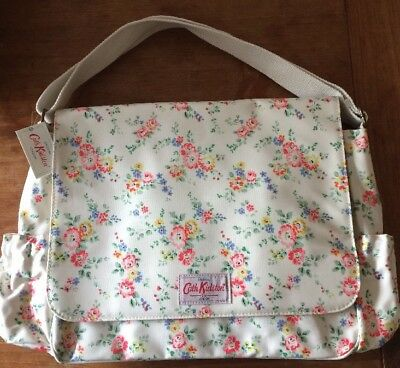 CATH KIDSTON BLEACHED FLOWERS Baby Nappy Changing Bag, Mat & Bottle Holder