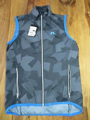J Lindeberg M Wind Vest | NEW | Size Small | Golf | Running | Gilet