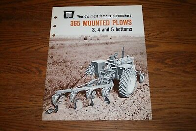 1967 Oliver Tractor 365 Mounted Plows Advertising Sales Brochure