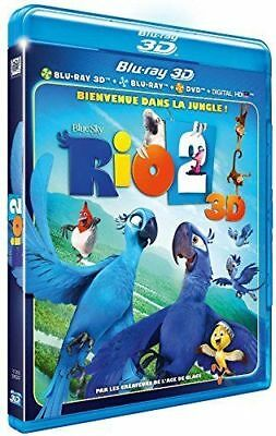 Blu Ray 3D + 2D + DVD : Rio 2 3D + Version 2D - NEUF