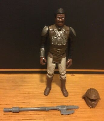 Star Wars Vintage Lando Skiff Guard - Original Weapon And Helmet! Near Mint!