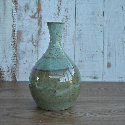 Rye pottery decanter - Vase - Green - Earthern - Vintage