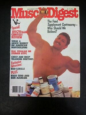 Vintage Muscle Digest bodybuilding magazine December 1979 good condition