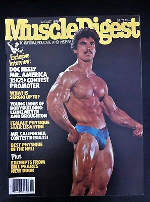 vintage Muscle Digest bodybuilding magazine August 1979 good condition
