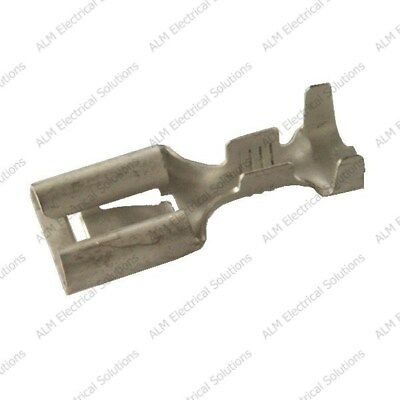 8mm Female Spade Lucar Connectors - Non-Insulated Terminals - Packs of 10 - 100