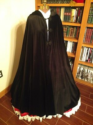 Reproduction Victorian ladies hooded cape
