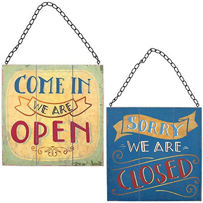 Reversible Open / Closed Hanging Shop Sign - Perfect For All Business Types!
