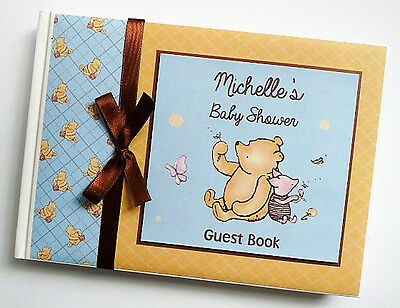 Classic Winnie The Pooh Birthday/baby Shower Guest Book Any Design