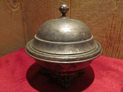 Antique Rogers & Bros. Chilled Butter Dish Silverplate Caviar server