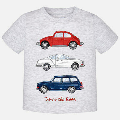 Mayoral Infant Boys Summer T- shirt with Car Print ,Grey (1056) aged 18-36 Mnths