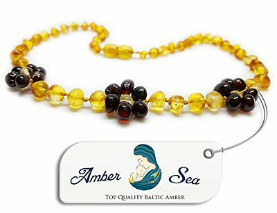 Genuine Baltic Amber Child Baby Flower Necklace in All Sizes