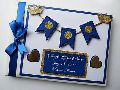 Personalised Prince/crowns/boys /first/1St Birthday Guest Book Any Design