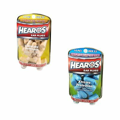Hearos Ear Plugs Defenders - Ultimate Softness & Xtreme Protection Range - New