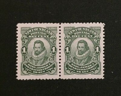 Newfoundland Stamp #87 NFW and JAMRS in Pair Perf 12x12 MH  $150