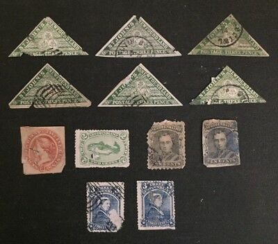 Newfoundland Stamp Selection of Forgeries all Heavily Damaged