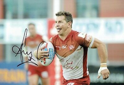 Greg BIRD Rugby League Catalan Dragons Signed Autograph 12x8 Photo 3 AFTAL COA