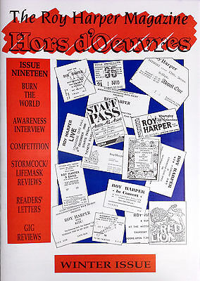 The Roy Harper Magazine - 'Hors d'Oeuvres'  Issue No. 19 published in 1991