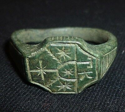 Knights Templar BRONZE RING Circa 1100 AD          -5845
