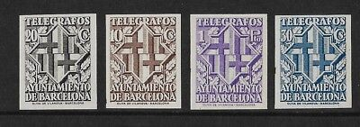 Stamps. Spain. Telegraph stamps. Set of 4. Edifil 13-16. 1914. MNH