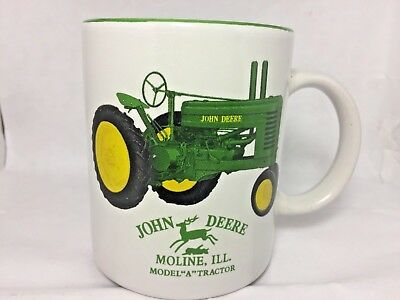 "John Deere Tractor Cup Coffee Mug Licensed Product Model ""A"" Moline Illinois"