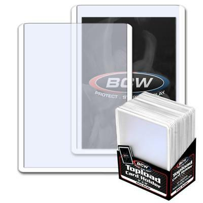25 BCW 3 x 4 TOPLOAD BASEBALL TRADING CARD HOLDERS WHITE BORDER HARD PROTECTORS
