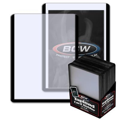 25 BCW 3 x 4 TOPLOAD BASEBALL TRADING CARD HOLDERS BLACK BORDER HARD PROTECTORS