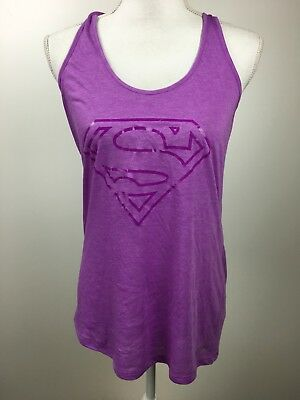 Under Armour ~ Women's Violet Purple SUPERMAN Graphic Tank Top ~ SIZE SMALL