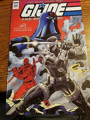 IDW G.I. JOE A Real American Hero # 241 RE Altered Reality Exclusive Signed