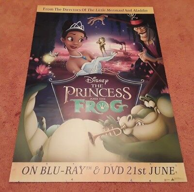 Princess and the Frog UK Movie Promo Poster. Manufactured in Support of the DVD