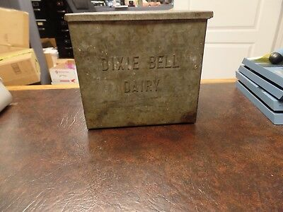 Vintage Galvanized Steel Insulated Milk Crate - Dixie Bell Dairy