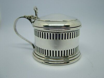 Solid Silver Mustard Pot with Liner Northern Goldsmiths Co Birmingham 1932
