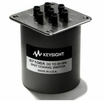 """Keysight 87106A w/opts. 024 & 161, SP6T Coaxial Switch, New """"Open Box"""""""