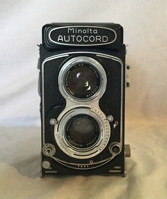 Vintage Minolta Autocord TLR Camera with Case 75mm Rokkor Very Nice Chiyoko