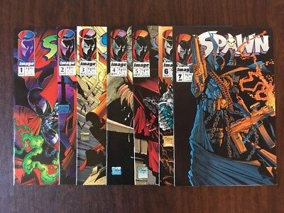 Spawn #1, 2, 3, 4, 5, 6, and 7 - NO RESERVE AUCTION!!!!  Image Comics 1992