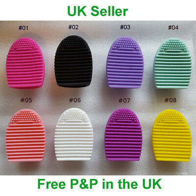 Silicone Make Up Brush Cleaner Finger Glove Effective Washing Tool UK Seller