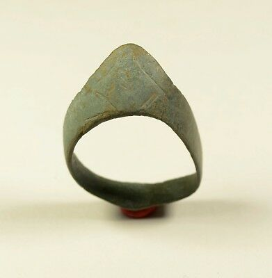 Rare Ancient Roman Bronze Archer's Ring, Thumb Ring for Archery