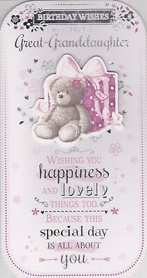 Great Granddaughter Birthday Wishes Card