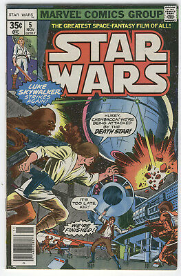 Star Wars #5 It's Too Late, We're Finished Original Series Bronze Age Key FVF