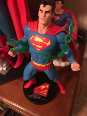 Superman statue by DC Direct and signed base by Neal Adams. #1207/5000