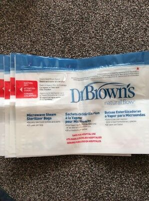 Dr Browns Steriliser Bags X 5