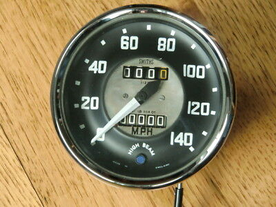 Austin Healey speedometer, 140 MPH reconditioned