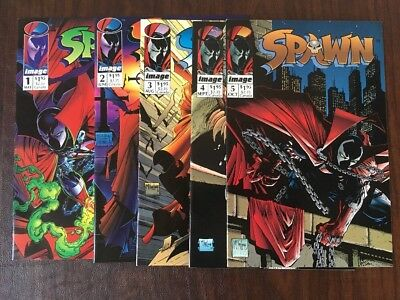 Spawn #1, 2, 3, 4, and 5 - NO RESERVE AUCTION!!!!  Image Comics 1992