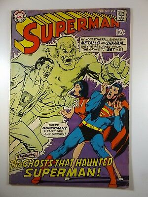 "Superman #214 ""The Ghost that Haunted Superman!"" VG/VG+ Solid Copy!!"