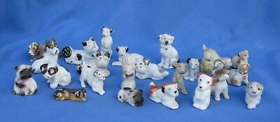 24 Vintage Miniature Dog Statues made in Japan