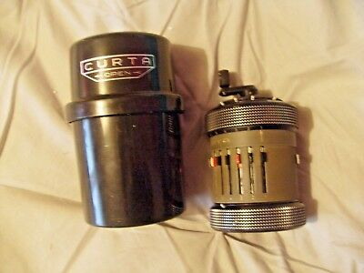 CURTA TYPE 2 CALCULATOR No 533644 EXCELLENT CONDITION IN ORIGINAL CANISTER