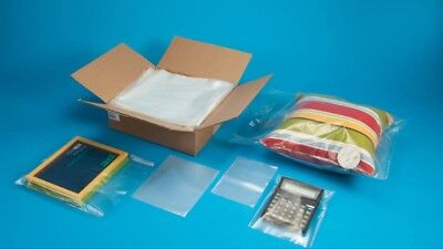 2x10(4 mil) POLY BAGS - 1000 bags - Clear Layflat Open Plastic Poly Bags