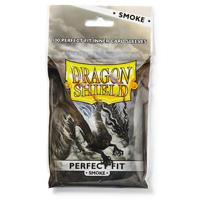 Dragon Shield Perfect Fit Smoke 100 Standard Sleeves Kartenhhüllen Perfect size