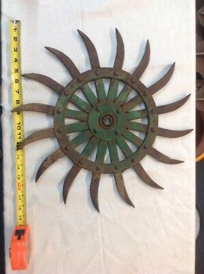 "Vintage Cast Iron Metal Pulley,sprocket,gear,wheel,Steampunk,Industrial 18"" Diam"
