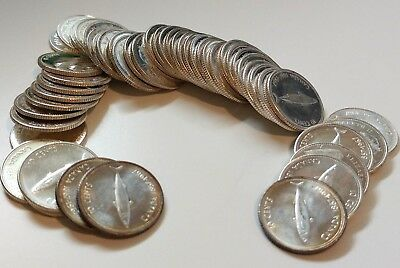 Roll Of 50 - 1967 Canada Silver 10 Cents Dime Coins - Hidden for 50 years! NICE!